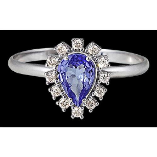 Anel de Ouro 18k com Tanzanita e Diamante