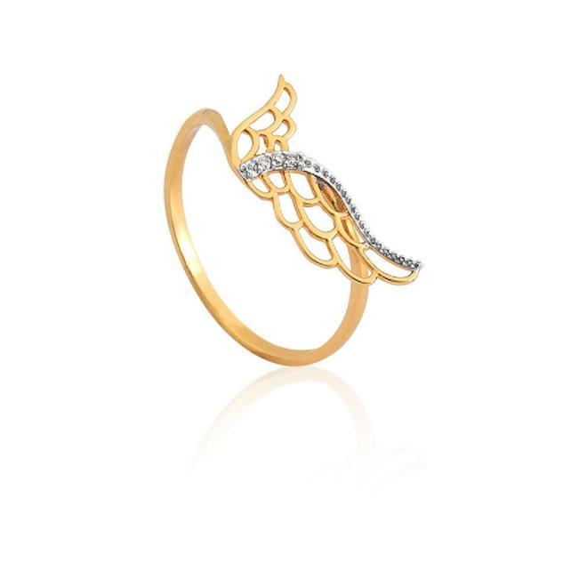 Anel de Ouro 18k de Asa com Diamante - ANF7922 2002 - Coliseu 9a23c5b533