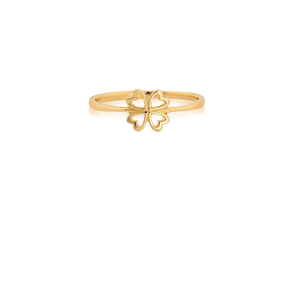 Anel de Ouro Infantil 18k de Trevo - 012486.06773 - Coliseu ff1ffd98e0