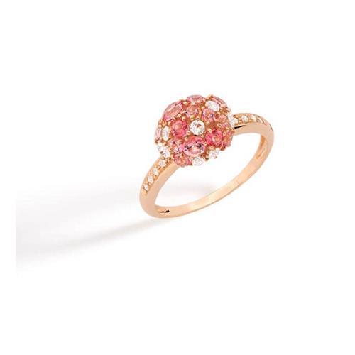 Anel de Ouro 18k com Diamante, Safira e Topázio