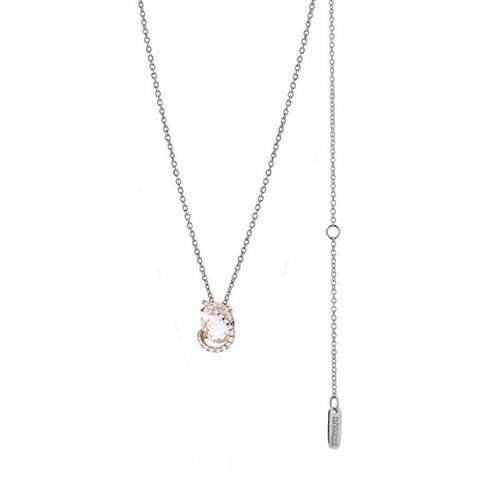 Gargantilha de Ouro 18k com Diamante e Quartzo