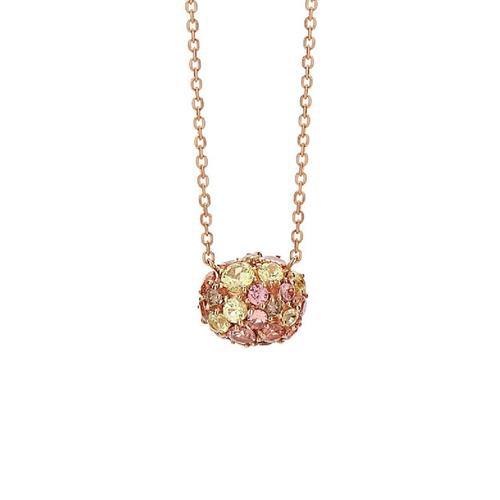Gargantilha de Ouro 18k com Diamante, Crisoberilo e Granada Mandarim