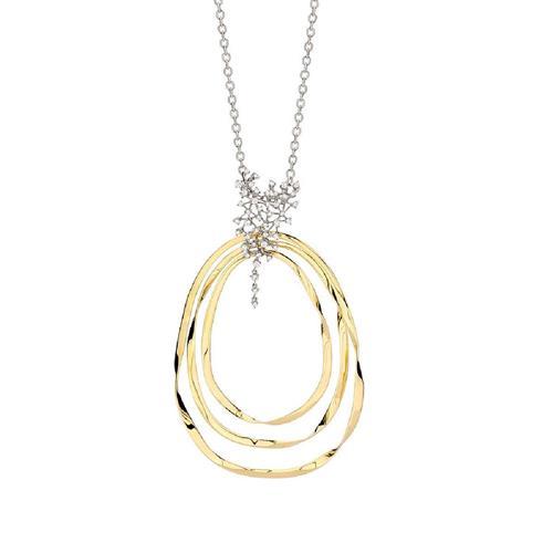 Gargantilha de Ouro 18k com Diamante e Safira