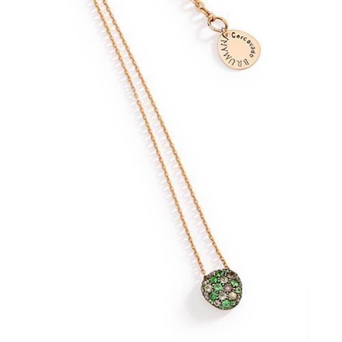 Gargantilha de Ouro 18k com Diamante, Topázio, Safira e Tsavorita