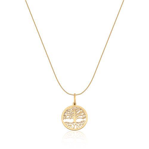 Pingente de Ouro 18k de Árvore da Vida