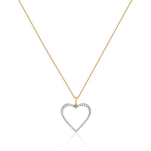 Gargantilha de Ouro 18k de Coração