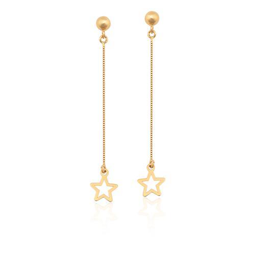 Brinco de Ouro 18k de Estrelas