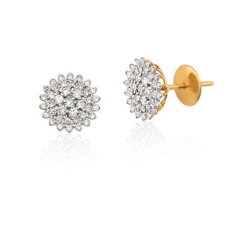 Brinco de Ouro 18k com Diamantes