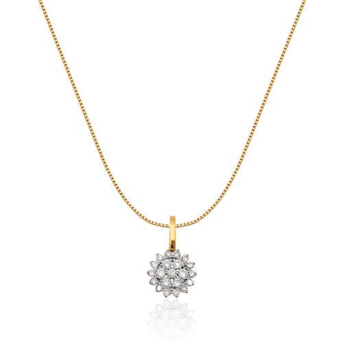 Pingente de Ouro 18k com Diamantes