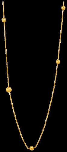 Gargantilha de Ouro 18k com Bolinhas