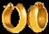 Brinco de Ouro 18k de Argola