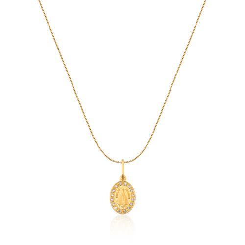 Pingente de Ouro 18k de N. S. Aparecida com Diamante
