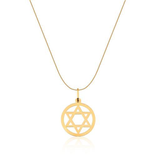 Pingente de Ouro 18k de Estrela de Davi