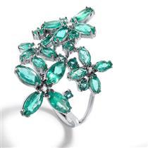 Anel de Ouro 18k com Esmeralda e Diamante