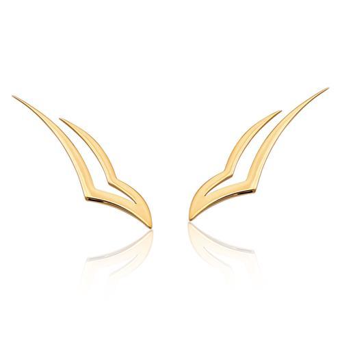 Brinco de ouro 18k ear cuff