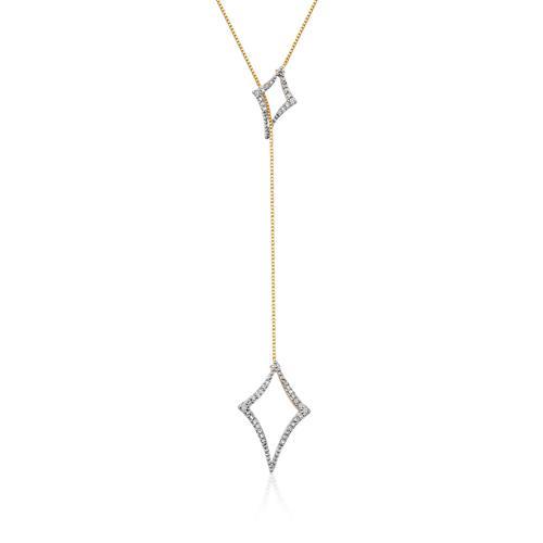 Gargantilha de Ouro 18k com diamantes