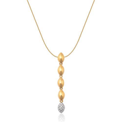 Pingente de ouro 18k com diamantes.