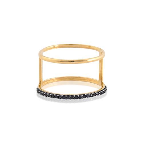 anel de ouro 18k com espinélios