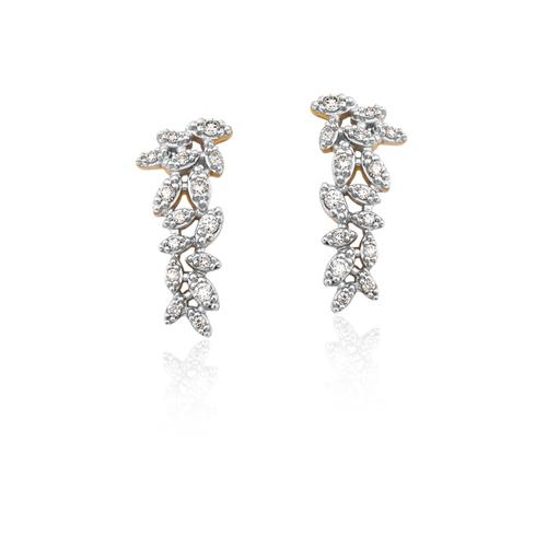brinco de ouro 18k ear cuff com diamantes