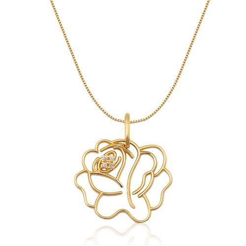 Pingente de Ouro 18k de Rosa