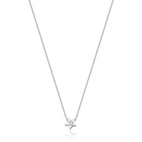 Gargantilha de Ouro 18k de Estrela com Diamante