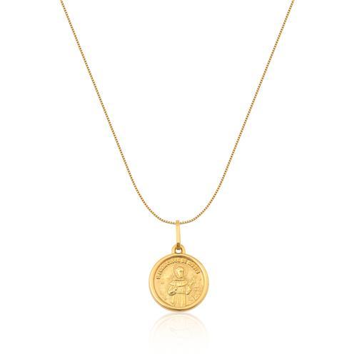 Pingente de Ouro 18k de S. Francisco de Assis