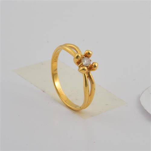 anel de ouro 18k solitário com diamantes