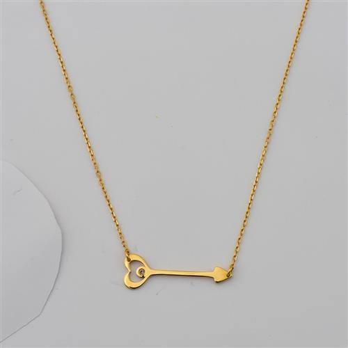 Gargantilha de Ouro 18k Coração com Diamante