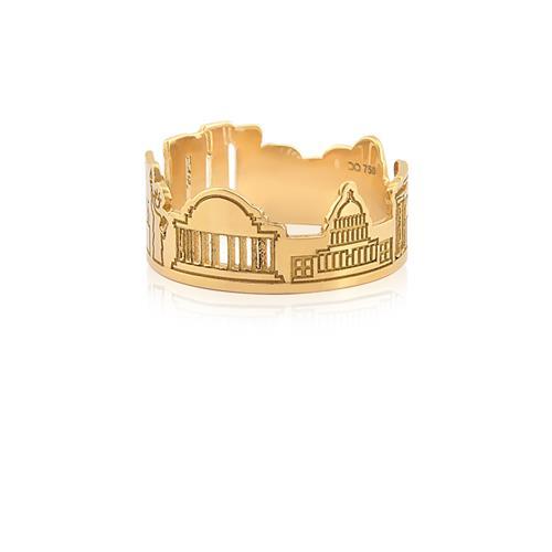 Anel de Ouro 18k de monumentos dos EUA
