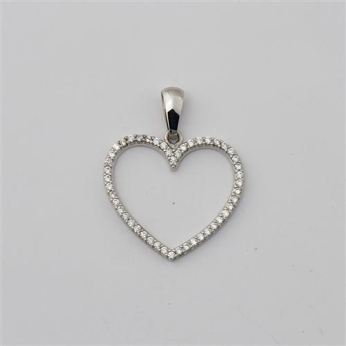 Pingente de Ouro 18k Coração com Diamante