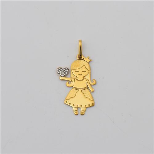 Pingente de Ouro 18k Diamante