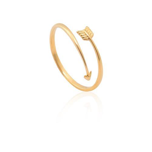 anel de ouro 18k de flecha