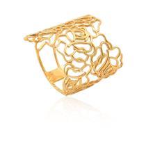 anel de ouro 18k de flor