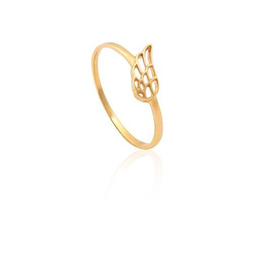 anel de ouro 18k de asa