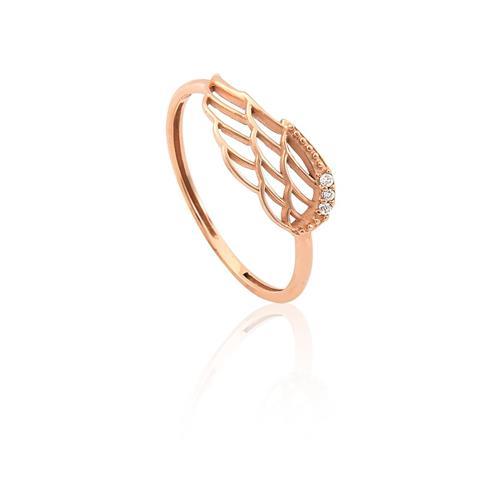 Anel de Ouro 18k de Asa com diamantes