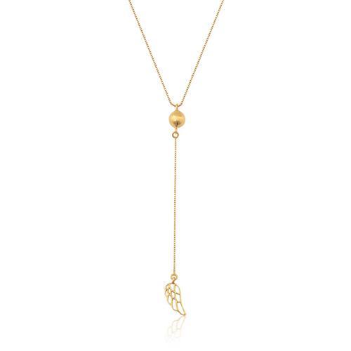gargantilha de ouro 18k de Asa com diamante