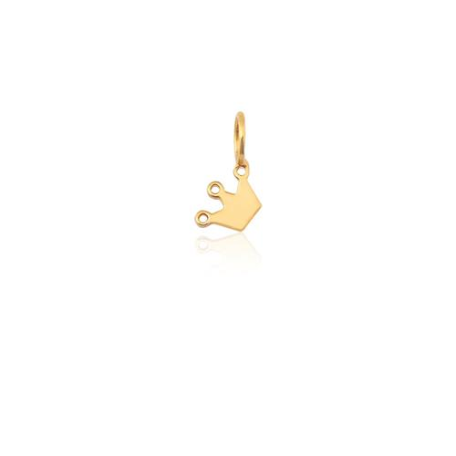 Pingente de Ouro 18k Charms de Coroa