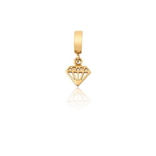 Pingente de Ouro 18k Charms de Diamante