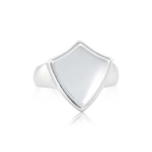 Anel de prata 925 masculino com brasão