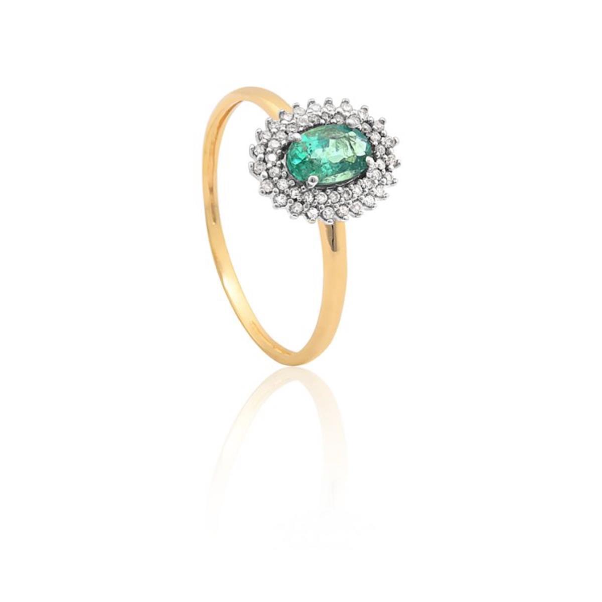 Anel de Ouro 18k de Formatura com Rubi e Diamantes - AFN9242 0085 - Coliseu a9fa13f3ce