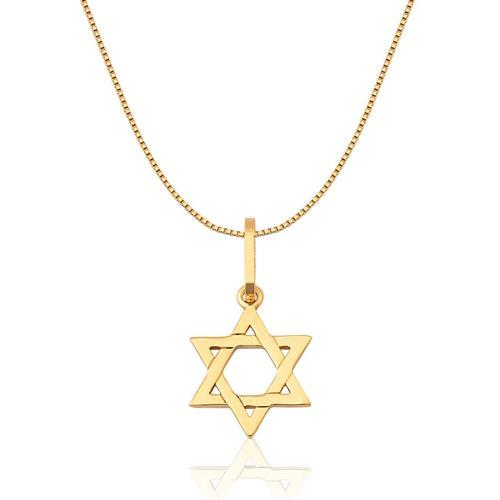 Pingente de Ouro 18k de Estrela