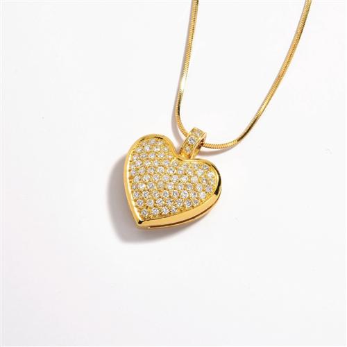 Pingente de Ouro 18k de Coração com Diamantes - CPA047 A1 - Coliseu 1e0cecf639