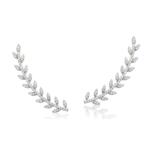 Brinco de Ouro 18k Ear Cuff com Diamante