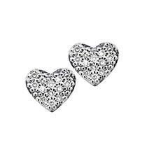 Brinco de Ouro 18k de Coração com Diamante