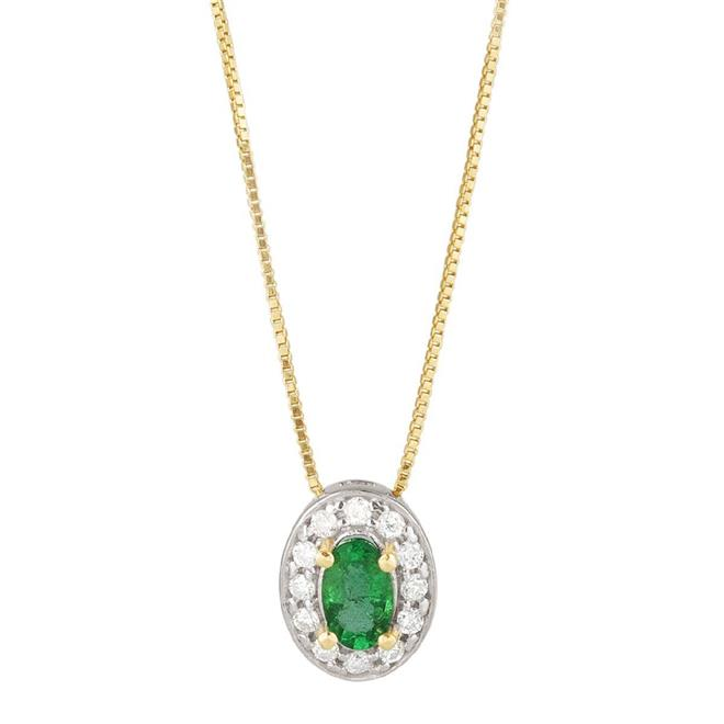c97f7d6577ad7 Gargantilha de Ouro 18k com Esmeralda e Diamante - CGA.2148BE - Coliseu