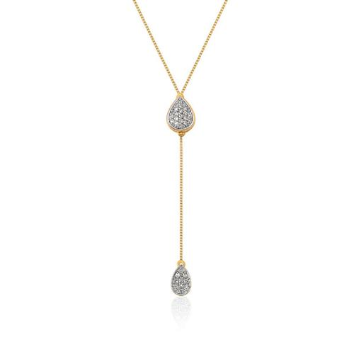 Gargantilha de Ouro 18k com Diamante