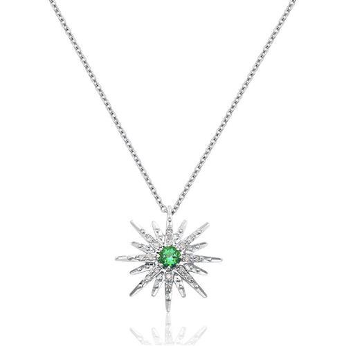 Gargantilha de Ouro 18k com Topázio e Diamante