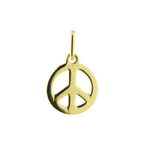 Pingente de Ouro 18k de Símbolo da Paz