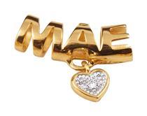 Pingente de Ouro 18k de Mãe com Diamante