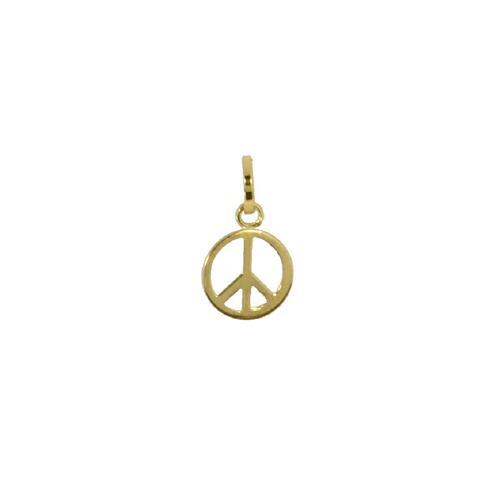 Pingente de Ouro 18k de Paz